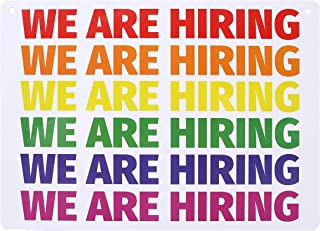 Hiring Sign - are You Awesome? We're Hiring Sign - Help Wanted Sign for Store. Stand Out with This Rainbow LGBT Themed, Lightweight, Washable PVC Hiring Sign for Business (8.25