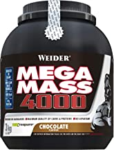 Weider Mega Mass 4000 Chocolate Protein Rich Formulation with Creapure Creatine High Quality Complex Carbs Muscle Building 3kg Estimated Price : £ 37,12