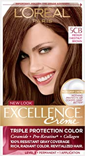 L'Oreal Paris Excellence Creme, 5CB Medium Chestnut Brown, (Packaging May Vary)