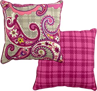 Vera Bradley Reversible Toss Pillow Paisley Meets Plaid