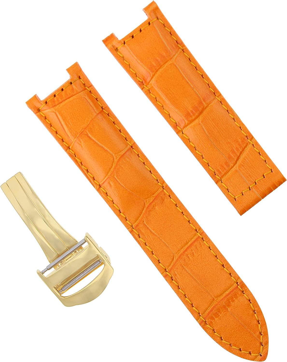 21mm Leather Strap Band Clasp 42mm Great Ranking TOP9 interest Pasha with Cartier Compatible