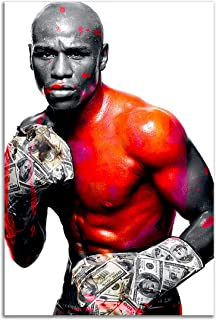 Poster #04 Floyd Mayweather Boxing Boxer Fighter 32x48 inch More Sizes Available Canvas Frame