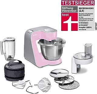 comprar comparacion Bosch CreationLine MUM58K20 - Robot de cocina, 1000 W, recipiente de 3.9 litros, color rosa y plateado