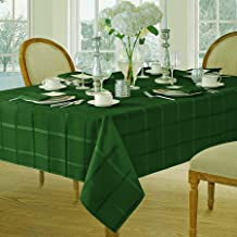 Newbridge Elegance Plaid Christmas Fabric Napkin Set, 100% Polyester, No Iron, Soil Resistant Holiday Napkins, Set of 4 Fabric Napkins, Hunter Green