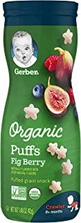 gerber organic puffs puffed grain snack apple