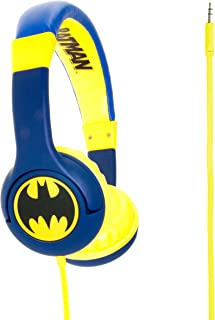 OTL On-Ear Junior Headphone - Batman Caped Crusader - Portable Headset Volume Limiting Kids Headphones - Child Safe Soft P...