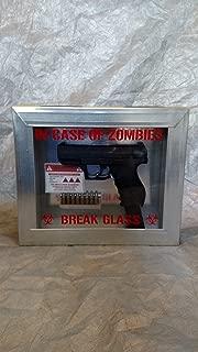 walking dead - in case of zombies break glass 10 x 12 pistol box prop(Airsoft Gun)