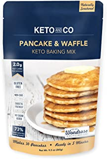 Keto Pancake & Waffle Mix by Keto and Co | Fluffy, Gluten Free, Low Carb Pancakes | 2.0g Net Carbs per Serving | No Sugar ...