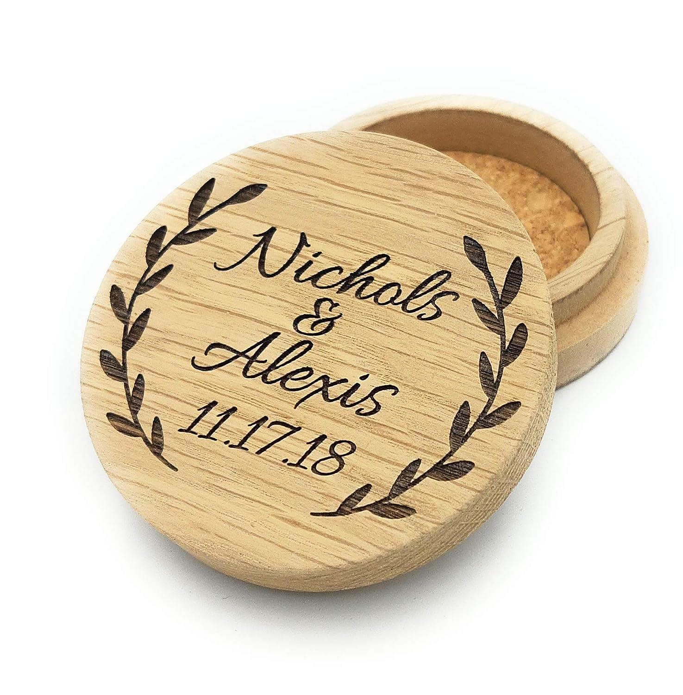 Personalized ring box wooden b Max Washington Mall 60% OFF wedding