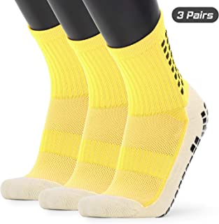 Explopur Basketball Socks,Men's Anti Slip Football Socks Athletic Long Socks Absorbent Sports Grip Socks for Basketball Soccer Volleyball Running Trekking Hiking 1 Pairs / 3 Pairs