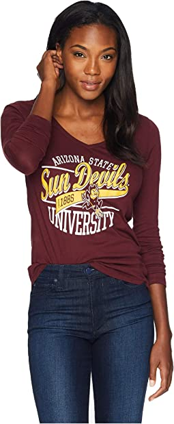 Arizona State Sun Devils Long Sleeve V-Neck Tee
