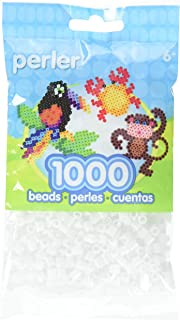 Perler Beads Fuse Beads for Crafts, 1000pcs, White Glitter