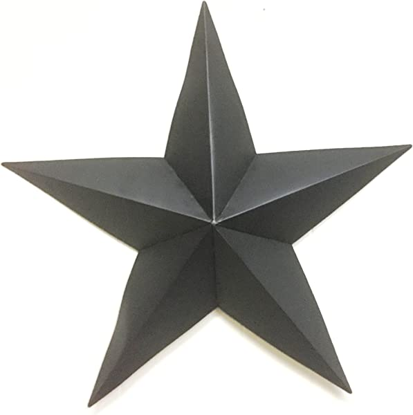 Bookishbunny 24 Inches Handmade Antique Wrought Iron Star Black