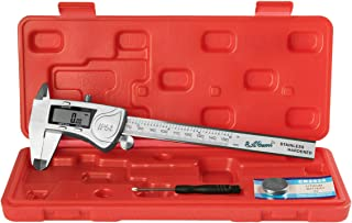Digital Caliper, Durable Stainless Steel Electronic Measuring Tool by EAGems; Get IP54 Protection and Precision Fractional Measurements in SAE/Metric, 6 inch/150mm with these Large LCD Vernier Caliper