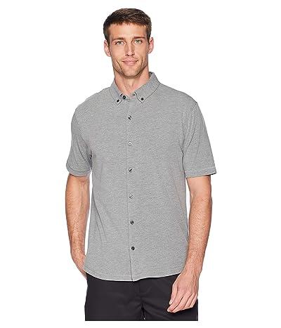 Linksoul LS1184 Anza Heathered Button-Down Shirt (Dark Grey Heather) Men