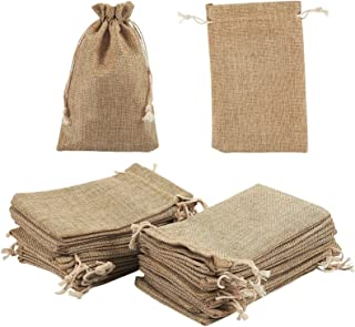 """Burlap Bags 24 Pieces 4.5 x 7"""" with Drawstring - 24 Pieces - Jute Drawastring Gift Bags for Wedding Party Favor, Jewelry P..."""