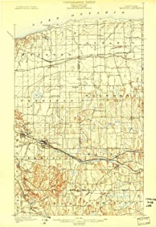 YellowMaps Macedon NY topo map, 1:62500 Scale, 15 X 15 Minute, Historical, 1900, 22.51 x 15.51 in