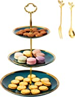 E-ROOM TREND Cupcake Stand, Ceramics Dessert Stand Heavy Duty and Sturdy, 3 Tiers Tower Tree Display for Wedding Tea Birthday Party Decorations(A037)
