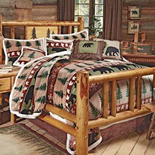 BLACK FOREST DECOR Bear Mountain Plush Bed Set - Queen