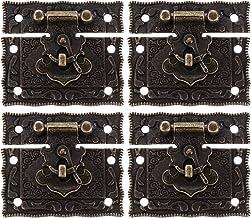 Angoily 4 Pcs Lock Sluiting Gesp Klink Antieke Stijl Klink Hasps Sluiting Voor Houten Sieraden Doos Kast Decoratieve Koffe...