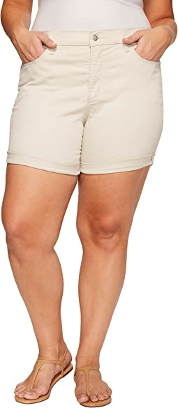 Plue Size Avery Shorts in Clay