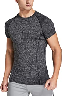 Sponsored Ad - Siahk Athletic Shirts for Men Short Sleeve Workout Running Shirt Moisture Wicking Performance Tops