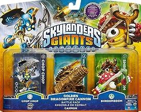Skylanders Giants Exclusive Golden Dragonfire Cannon Battle Pack Chop Chop, Golden Dragonfire Cannon, & Shroomboom - Unloc... photo