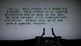 Universal Typewriter Ribbons - Custom Color Twin Spool Typewriter Ribbons (Black and Green)