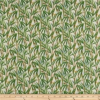 Elizabeth's Studio Panda Bears Bamboo Fabric, Green, Fabric By The Yard