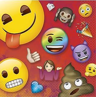 "Rainbow Fun Emoji Luncheon Napkins 6.5"", 16 Ct."