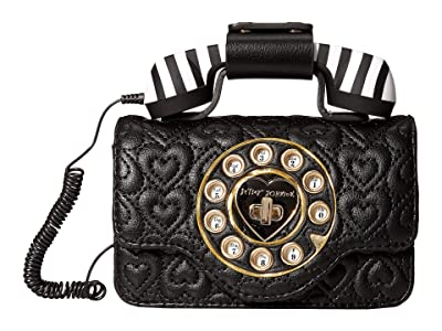 Betsey Johnson Pocket Dial Phone Belt Bag (Black) Bags
