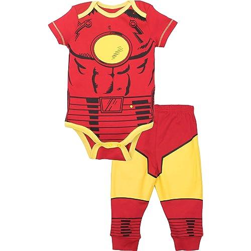 65ccf65d4c3 Marvel Avengers Baby Boys  Bodysuit   Pants Clothing Set