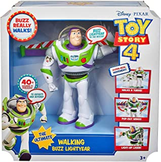 """Toy Story Ultimate Walking Buzz Lightyear, 7\"""" Disney Pixar, 40+ Sounds & Phrases, Limited Edition"""