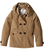 Burberry Kids - Margeretta Double Breasted Hooded Trench (Little Kids/Big Kids)