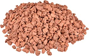 Mr. Fireglass 10 Pounds Lava Rocks Red Natural Stone Granules for Gas Fire Pit Fireplace & Gas Log Set - Decorative Landscaping Rocks for Indoor and Outdoor Use, 0.4