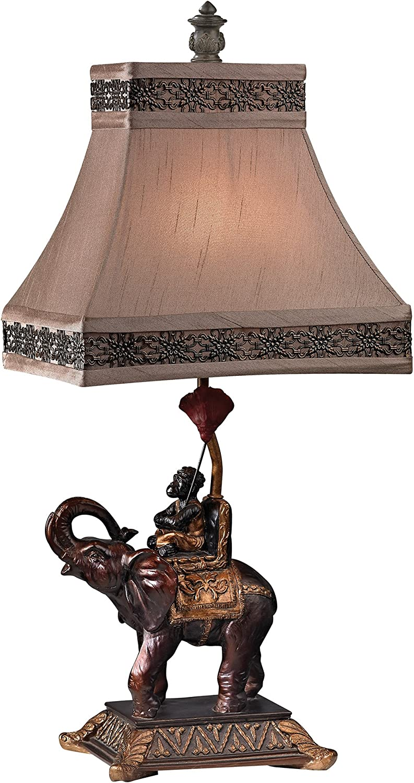 Dimond Lighting D2476 Alan Brook Monkey on Elephant Accent Lamp, 11.0  x 11.0  x 23.5 , Brasilia Bronze