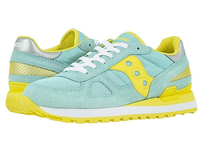 Saucony Originals  Shadow Original (Blue/Yellow) Womens Classic Shoes