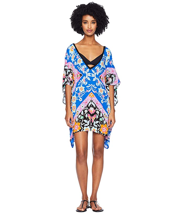 Nanette Lepore Flower Bomb Scarf Caftan Cover-Up (Multi) Women