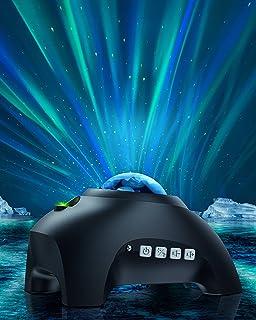 ویدئو پروژکتور نور شمالی برای اتاق خواب - پروژکتور گلکسی Joysky 3 در 1 Aurora با بلندگوی بلوتوث برای دکوراسیون منزل [8 صدای سفید] چراغ آسمانی مهمانی LED برای سقف ، چراغهای شب پر ستاره برای کودکان