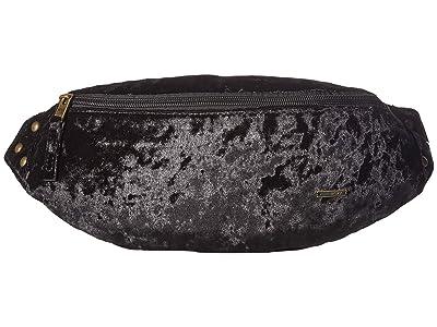 Roxy Julia Banana Velvet Fanny Pack (True Black) Bags