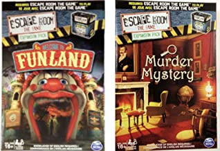 Escape Room the Game Welcome to Funland/Murder Mystery Expansion Pack Bundle