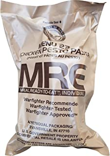 Ultimate 2018 US Military MRE Complete Meal Inspection Date January 2018 or Newer (Chicken Pesto Pasta)