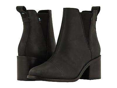 TOMS Esme (Black Leather) Women