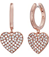 Kate Spade New York - Yours Truly Pave Heart Drop Earrings