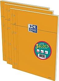 Oxford Lot de 3 Bloc-Notes A4+ (22,5 x 29,7cm) Gra