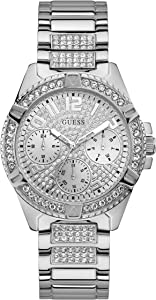 GUESS - W1156L1 - WATCH FOR LADIES SILVER WITH CRYSTAL STAINLESS STEEL