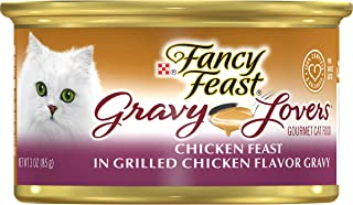 Fancy Feast Gravy Lovers Chicken Feast in Grilled Chicken Flavor Gravy Can, 85g