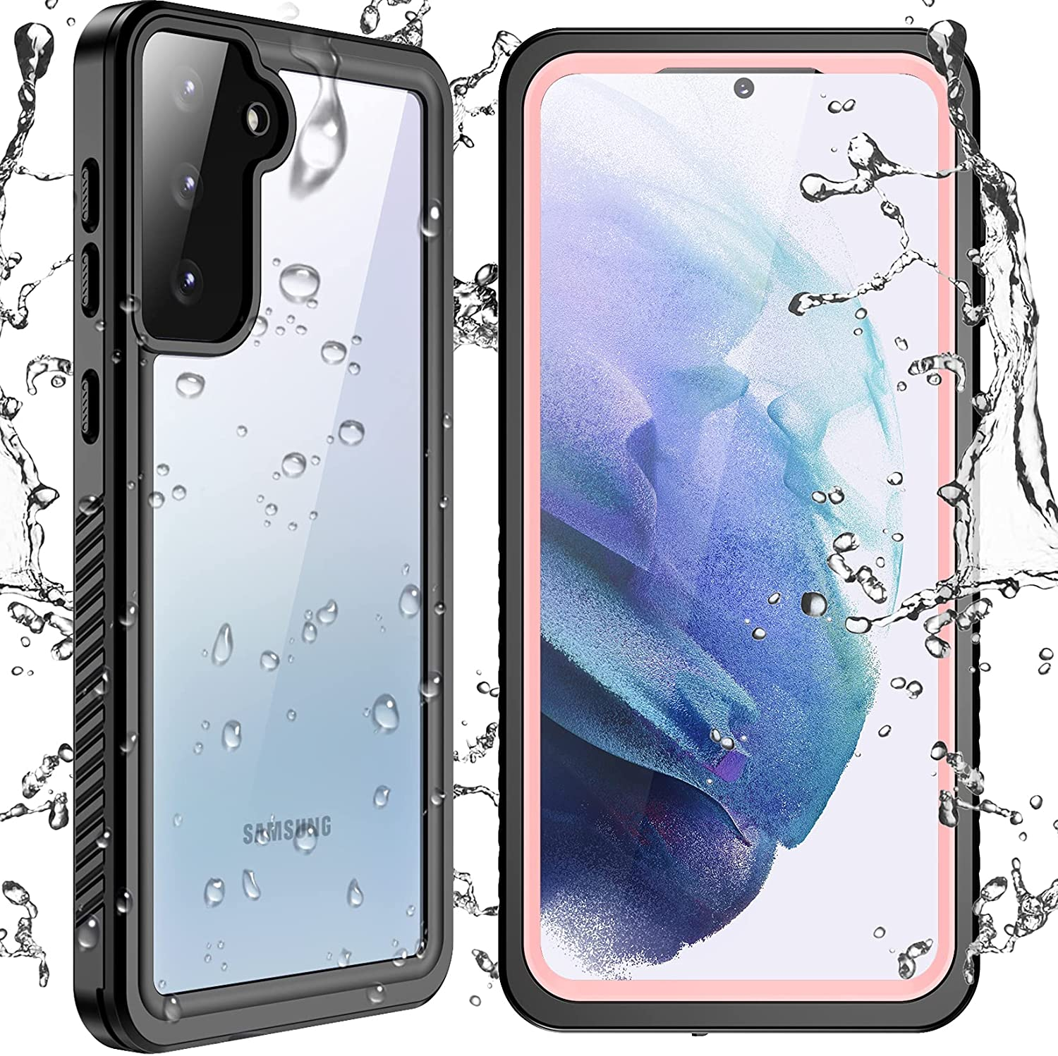 SPIDERCASE Designed for Samsung Galaxy S21 Plus Waterproof Case, Built-in Screen Protector Heavy Duty Protection Shockproof Anti-Scratched Cases for Samsung Galaxy S21 Plus 6.7
