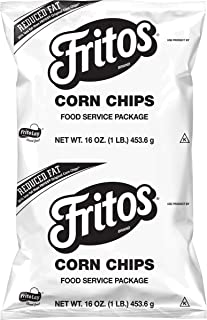 Fritos Reduced Fat Whole Grain Corn Chips, 16 Ounce (Pack of 8)