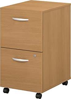 Bush Business Furniture Series C 2 Drawer Mobile File Cabinet in Light Oak